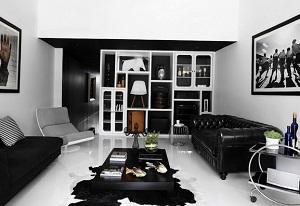 интерьер в черном стиле