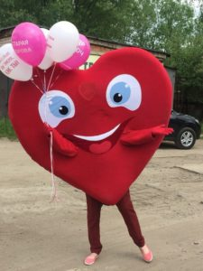 костюм сердца