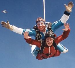 Прыжок с парашюта тандем