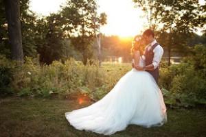 свадьба на закате